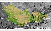 Satellite 3D Map of Mysore, desaturated
