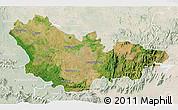 Satellite 3D Map of Mysore, lighten