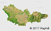 Satellite 3D Map of Mysore, single color outside