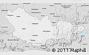 Silver Style 3D Map of Mysore