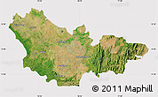 Satellite Map of Mysore, cropped outside