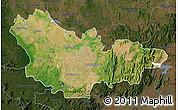 Satellite Map of Mysore, darken