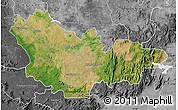 Satellite Map of Mysore, desaturated