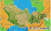 Satellite Map of Mysore, political outside
