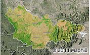 Satellite Map of Mysore, semi-desaturated