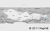 Gray Panoramic Map of Mysore