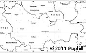 Blank Simple Map of Mysore