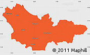 Political Simple Map of Mysore, single color outside
