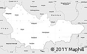 Silver Style Simple Map of Mysore