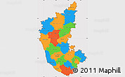 Political Simple Map of Karnataka, cropped outside