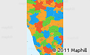 Political Simple Map of Karnataka
