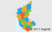 Political Simple Map of Karnataka, single color outside
