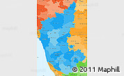 Political Shades Simple Map of Karnataka
