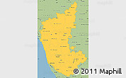 Savanna Style Simple Map of Karnataka