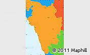 Political Simple Map of Uttar Kannad