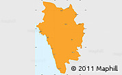 Political Simple Map of Uttar Kannad, single color outside