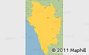 Savanna Style Simple Map of Uttar Kannad