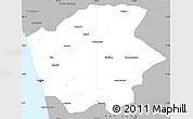 Gray Simple Map of Ernakulam