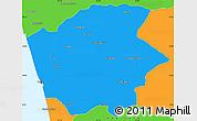 Political Simple Map of Ernakulam