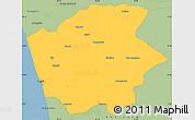 Savanna Style Simple Map of Ernakulam