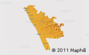 Political 3D Map of Kasaragod, cropped outside
