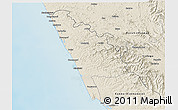 Shaded Relief 3D Map of Kasaragod
