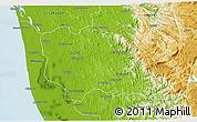Physical 3D Map of Kottayam