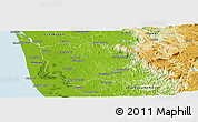 Physical Panoramic Map of Kottayam