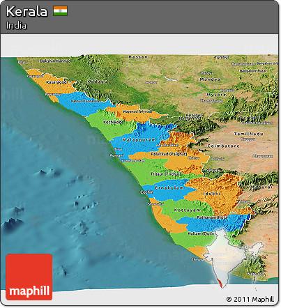 Carte panoramique du Kerala