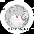 Outline Map of Wayanad (Wynad)