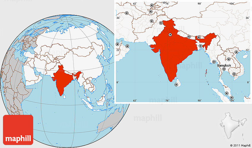 Gray location map of india highlighted continent gumiabroncs Choice Image