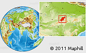 Physical Location Map of Jabalpur