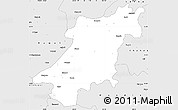 Silver Style Simple Map of Jabalpur