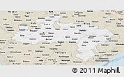 Classic Style Panoramic Map of Madhya Pradesh