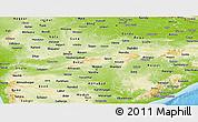 Physical Panoramic Map of Madhya Pradesh