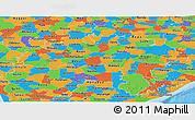 Political Panoramic Map of Madhya Pradesh