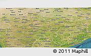 Satellite Panoramic Map of Madhya Pradesh