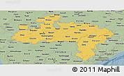 Savanna Style Panoramic Map of Madhya Pradesh