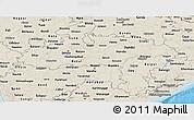Shaded Relief Panoramic Map of Madhya Pradesh