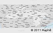 Silver Style Panoramic Map of Madhya Pradesh
