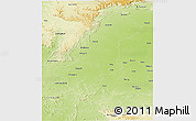 Physical Panoramic Map of Raj Nandgaon