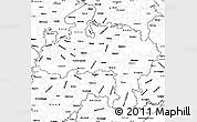 Blank Simple Map of Madhya Pradesh
