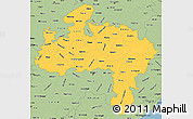 Savanna Style Simple Map of Madhya Pradesh