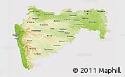 Physical 3D Map of Maharashtra, cropped outside