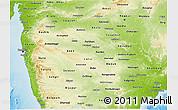 Physical 3D Map of Maharashtra
