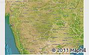 Satellite 3D Map of Maharashtra