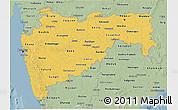 Savanna Style 3D Map of Maharashtra