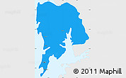 Political Simple Map of Greater Bombay, single color outside