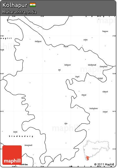 blank map kolhapur district