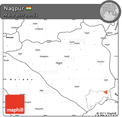 Free Blank Simple Map of Nagpur